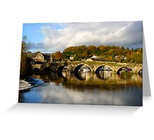 Autumn reflections on the River Barrow, Graiguenamanagh, County Kilkenny Greeting Card