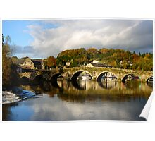 Autumn reflections on the River Barrow, Graiguenamanagh, County Kilkenny Poster