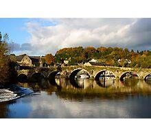 Autumn reflections on the River Barrow, Graiguenamanagh, County Kilkenny Photographic Print