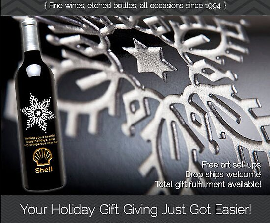 Wine Gift- Etched wine bottles
