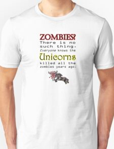 Unicorns killed all the Zombies T-Shirt