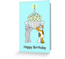 Cake and Cats Birthday Greeting Card