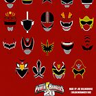 Power Rangers Forever Red 20th Anniversary Poster 1 by Joe Bolingbroke