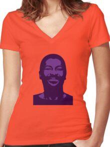 Teddy Pendergrass Women's Fitted V-Neck T-Shirt