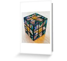 Lily Rubik's Cube Greeting Card