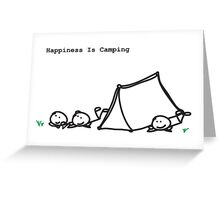 Happiness Is Camping Greeting Card