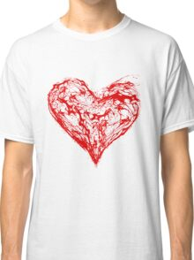 Abstract Red Heart  Classic T-Shirt