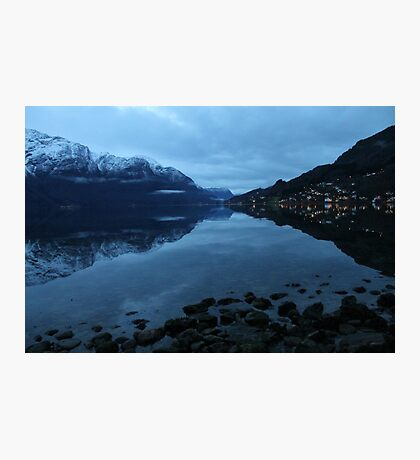 November morning twilight. Luster, west coast of Norway. Photographic Print