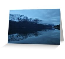 November morning twilight. Luster, west coast of Norway. Greeting Card