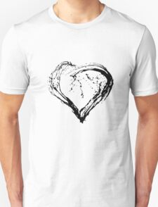 Abstract Black Heart  T-Shirt