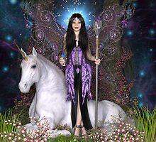 Amethyst Fairy & Unicorn by magicalartz