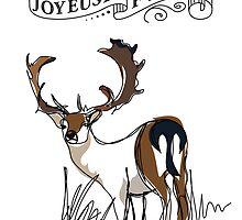 christmas deer by StudioRenate