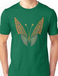 Flowers butterfly silhouette Unisex T-Shirt
