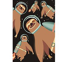 Happy sloth spaceman rocket jet pack Photographic Print