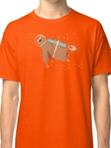 Happy sloth spaceman rocket jet pack Classic T-Shirt
