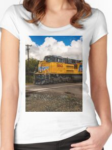Up Engine 8801 Women's Fitted Scoop T-Shirt