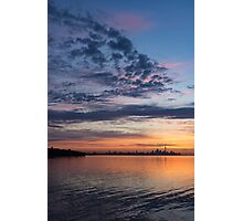 One Fine View - Rainbow Colored Skies Over Toronto at Dawn Photographic Print