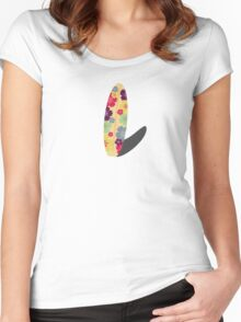 Hibiskus Surfboard Women's Fitted Scoop T-Shirt