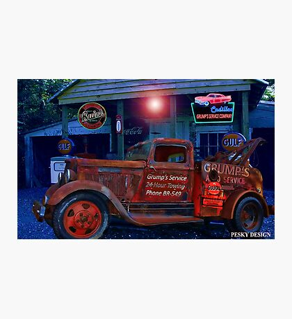 Grump's Garage  Photographic Print