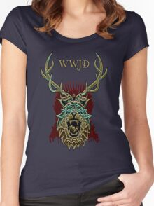 What Would Joffrey Do? - Shiny Women's Fitted Scoop T-Shirt