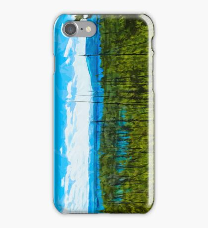Yellowstone National Park Abstract Impressionism iPhone Case/Skin