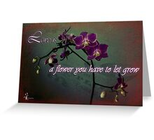 Love is a flower with text Greeting Card