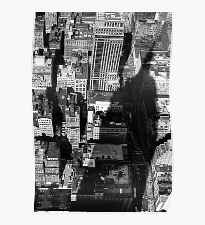 EMPIRE STATE BUILDING SHADOW Poster