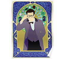 The Eleventh Doctor a la Alphonse Mucha Poster