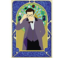 The Eleventh Doctor a la Alphonse Mucha Photographic Print