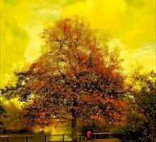 """""""She was an auburn tree in lemon skies"""" by MsheArt2"""