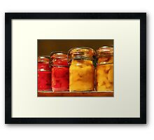 Canned Tomatoes and Peaches Framed Print