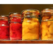 Canned Tomatoes and Peaches Photographic Print