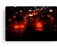 NEW YORK TAXI LIGHTS Canvas Print