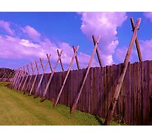 Fort Barrier Artistic Photograph by Shannon Sears Photographic Print