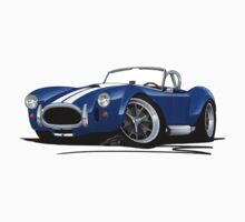 AC / Shelby Cobra Blue (White Stripes) T-Shirt