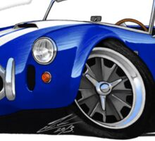 AC / Shelby Cobra Blue (White Stripes) Sticker