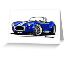 AC / Shelby Cobra Blue (White Stripes) Greeting Card