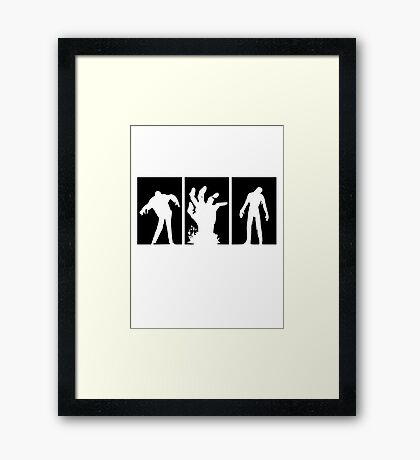 Zombies Dead Framed Print
