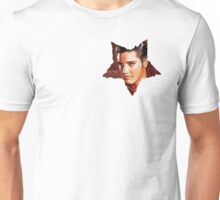 Elvis Presley star white. Unisex T-Shirt