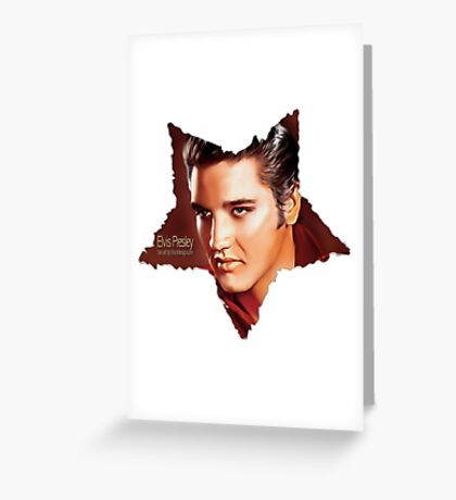 Elvis Presley star white. Greeting Card