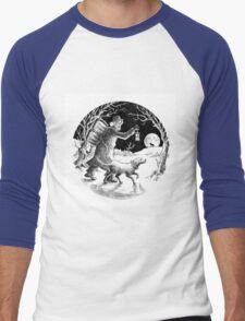 Where shall the 'nighted Showman go? Men's Baseball ¾ T-Shirt