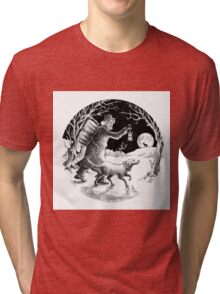 Where shall the 'nighted Showman go? Tri-blend T-Shirt