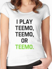 I Play Teemo Women's Fitted Scoop T-Shirt