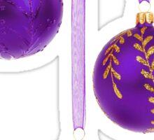 3 Purple Christmas Decoration Balls Sticker