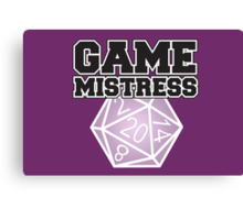 Game Mistress Canvas Print