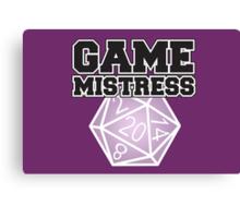 Game Mistress Canvas Print