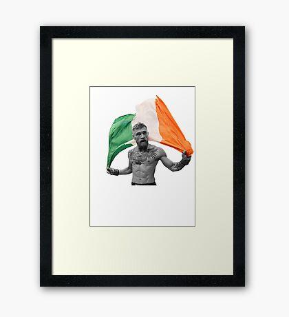 Conor McGregor UFC Fighter Irish Framed Print