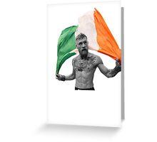 Conor McGregor UFC Fighter Irish Greeting Card