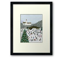 Ice skating pond Framed Print