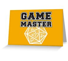 Game Master t-shirt Greeting Card